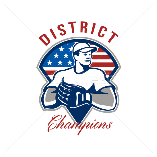 Baseball District Champions Retro Stock photo © patrimonio