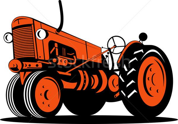 Vintage tractor low angle Stock photo © patrimonio