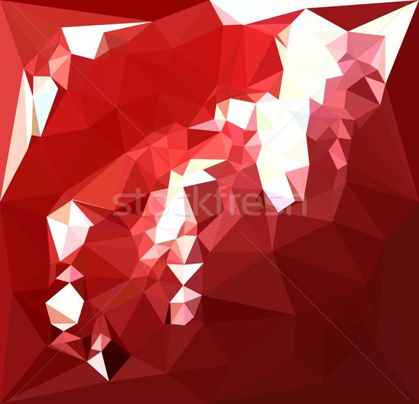красный аннотация низкий многоугольник стиль иллюстрация Сток-фото © patrimonio