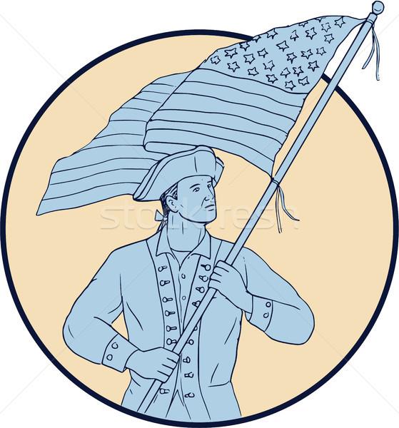 Сток-фото: американский · патриот · США · флаг · круга