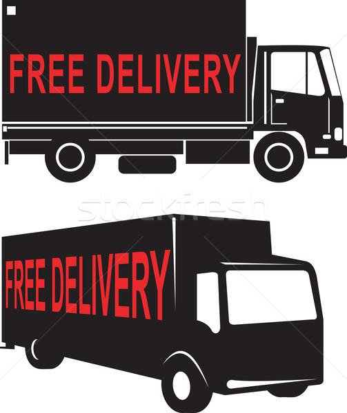 Free Delivery Truck Retro Stock photo © patrimonio