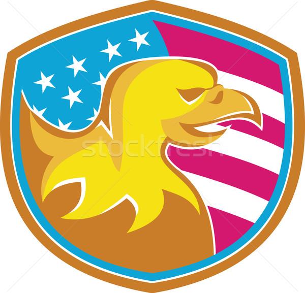 American Bald Eagle With Stars and Stripes Stock photo © patrimonio