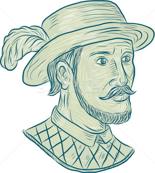Juan Ponce de Leon Explorer Drawing Stock photo © patrimonio