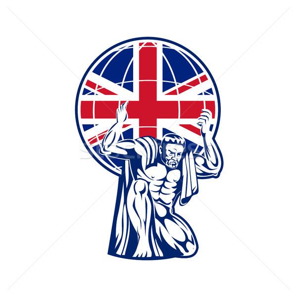 Atlas świecie brytyjski flaga brytyjska banderą Zdjęcia stock © patrimonio