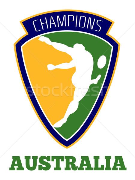 rugby player kicking ball champions Australia Stock photo © patrimonio