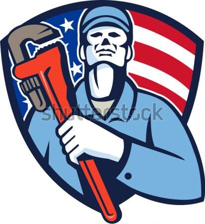 Americano patriota pistola ilustración establecer Foto stock © patrimonio