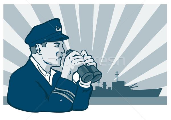 Captain Binoculars Stock photo © patrimonio