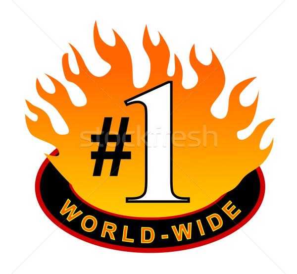Stockfoto: Wereldwijd · icon · illustratie · binnenkant · vlam · geïsoleerd
