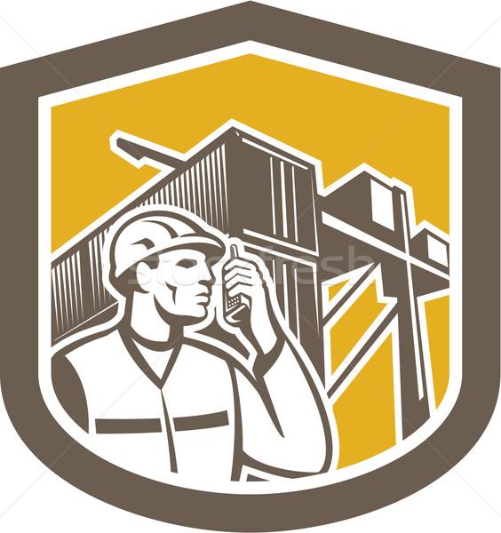 ドック ワーカー 電話 コンテナ シールド 実例 ストックフォト © patrimonio