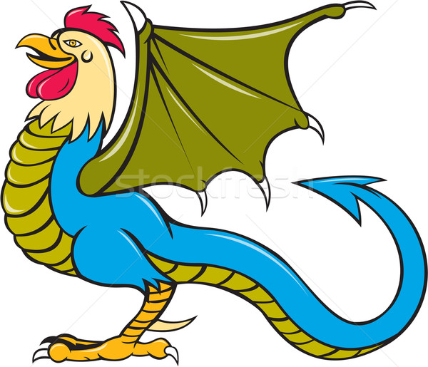 Basilisk Bat Wing Standing Cartoon Stock photo © patrimonio