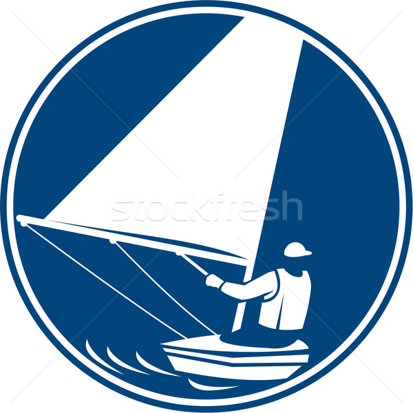 Sailing Yachting Circle Icon Stock photo © patrimonio