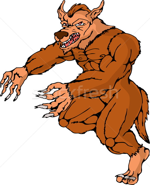 werewolf wolfman running attacking Stock photo © patrimonio