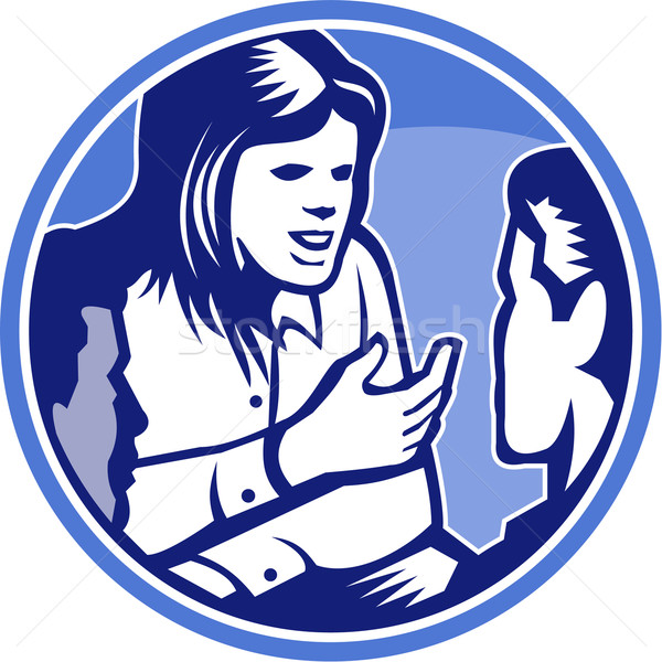Ofis çalışanı işkadını tartışma örnek kadın konuşma Stok fotoğraf © patrimonio