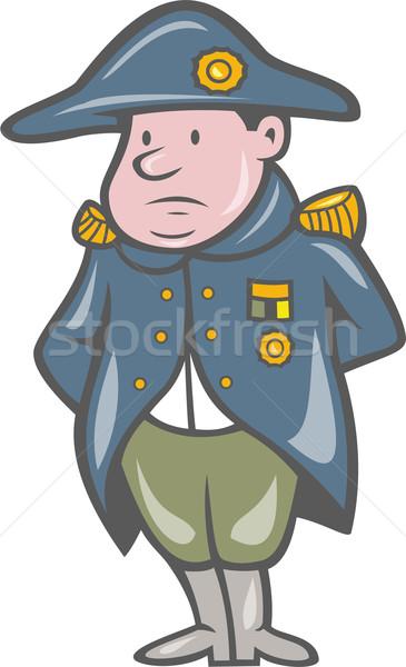 Frans militaire algemeen cartoon illustratie handen Stockfoto © patrimonio
