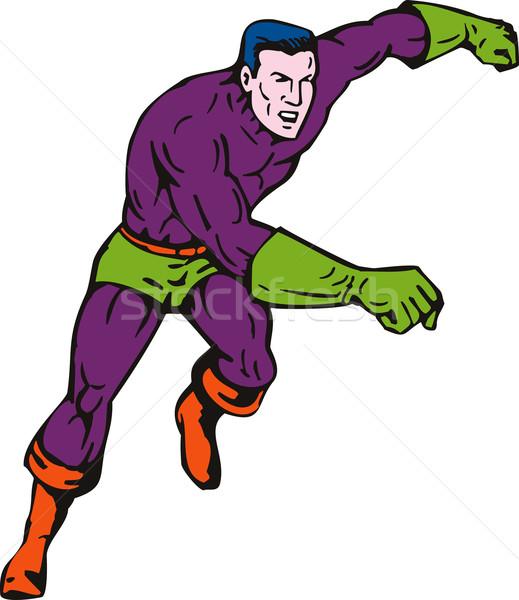 Superhero running fast to side Stock photo © patrimonio