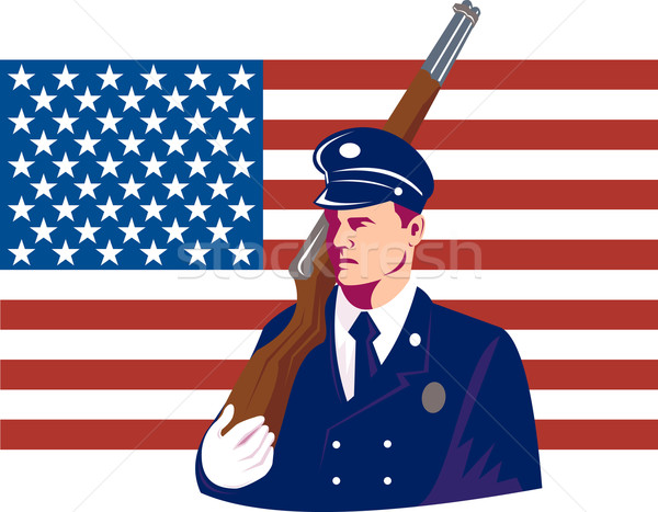 American soldier rifle march Stock photo © patrimonio