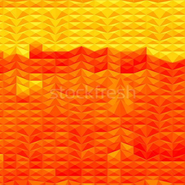 Kırmızı kuraklık soyut düşük çokgen stil Stok fotoğraf © patrimonio