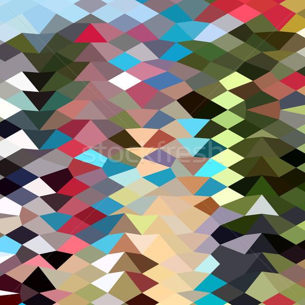 Kleur abstract laag veelhoek stijl illustratie Stockfoto © patrimonio