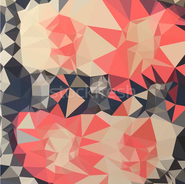коралловые красный аннотация низкий многоугольник стиль Сток-фото © patrimonio