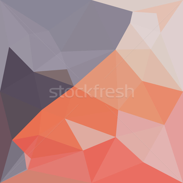 Indian Rood abstract laag veelhoek stijl Stockfoto © patrimonio
