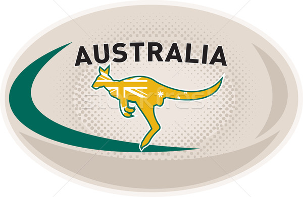 Rugby Ball Australia kangaroo wallaby  Stock photo © patrimonio
