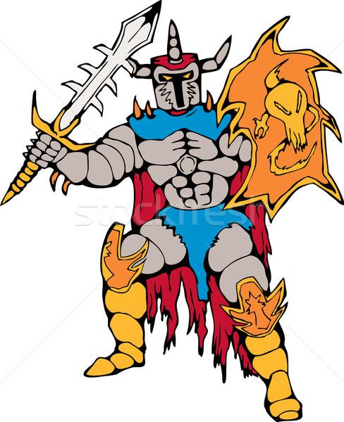 knoght with shield and sword Stock photo © patrimonio
