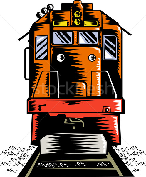 Diesel train vue Photo stock © patrimonio