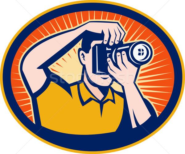 фотограф dslr цифровая камера иллюстрация набор внутри Сток-фото © patrimonio