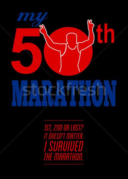 50th Marathon Race Poster  Stock photo © patrimonio