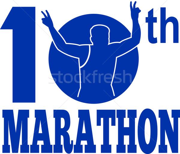 10th marathon run race runner Stock photo © patrimonio