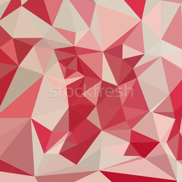 Rot abstrakten niedrig Polygon Stil Illustration Stock foto © patrimonio