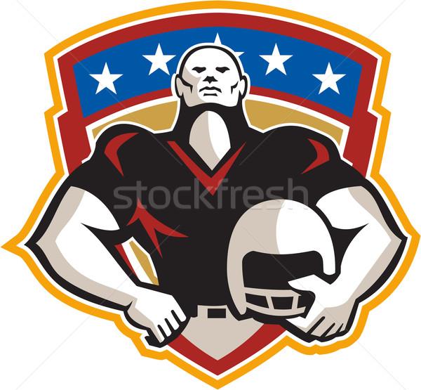 American Football Tackle Linebacker Helmet Shield Stock photo © patrimonio
