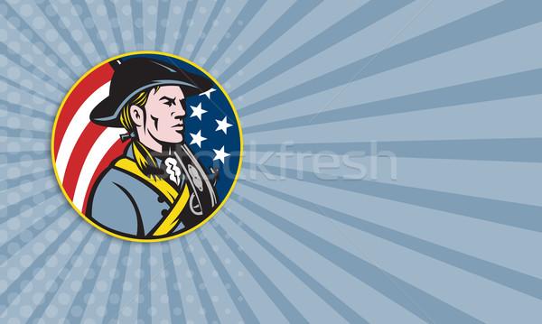 Americano patriota bandera ilustración soldado Foto stock © patrimonio