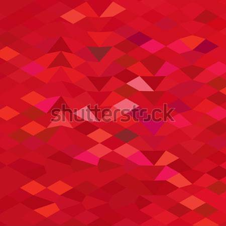 Imperial Red Abstract Low Polygon Background Stock photo © patrimonio