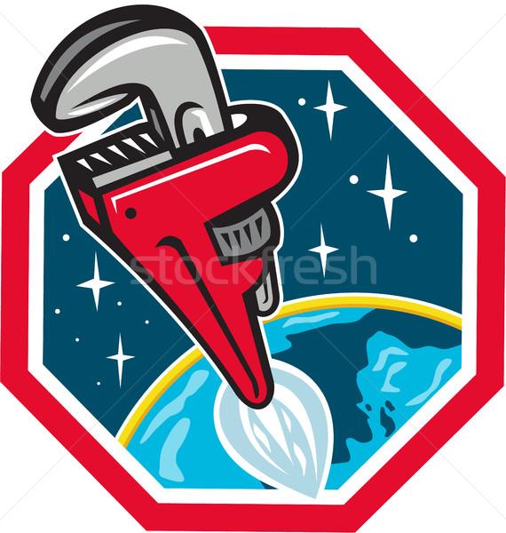 パイプ レンチ ロケット ブースター スペース 六角形 ストックフォト © patrimonio