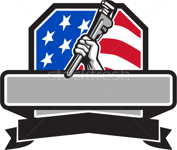 Loodgieter hand pijp sleutel USA Stockfoto © patrimonio