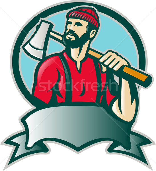 Lumberjack Forester With Axe Stock photo © patrimonio
