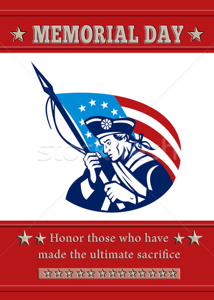 American Patriot Memorial Day Poster Greeting Card Stock photo © patrimonio