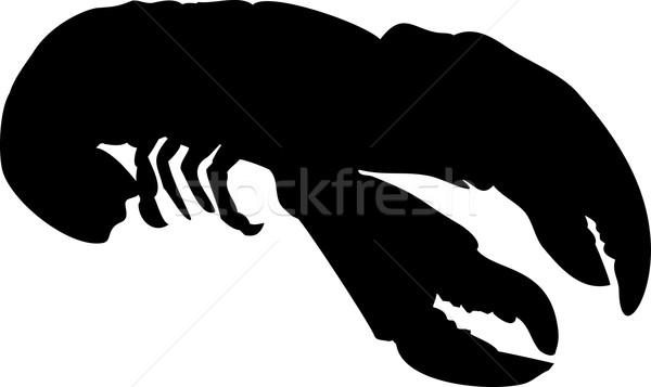 ロブスター シルエット 実例 レトロスタイル ストックフォト © patrimonio