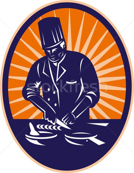 chef cook preparing food Stock photo © patrimonio