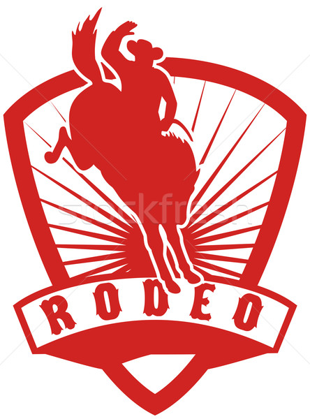 Rodeo Cowboy bucking bronco Stock photo © patrimonio