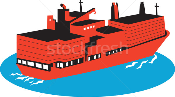 Container Cargo Ship Retro Stock photo © patrimonio