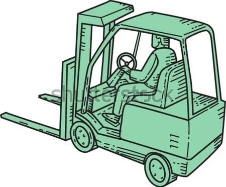 Tároló teherautó sofőr remek kör rajz Stock fotó © patrimonio