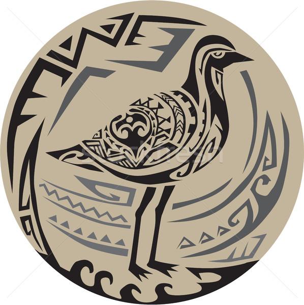 Dorado pie círculo tribales arte estilo Foto stock © patrimonio
