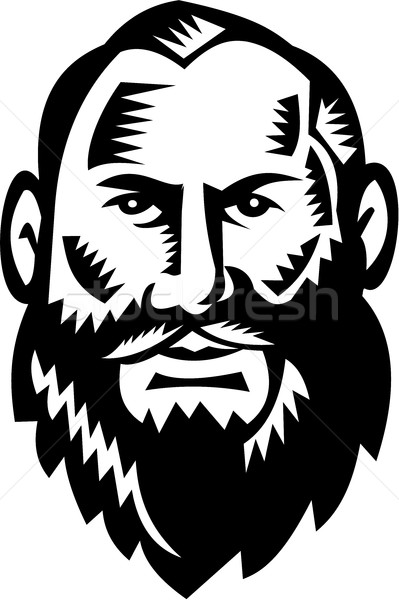 Male Big Beard Woodcut Stock photo © patrimonio