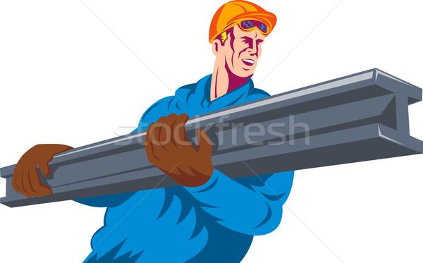 construction worker at work Stock photo © patrimonio