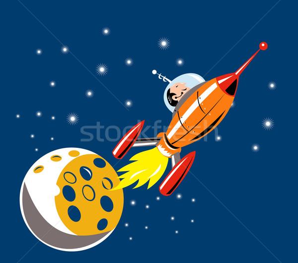 Spaceship Man Moon Stock photo © patrimonio