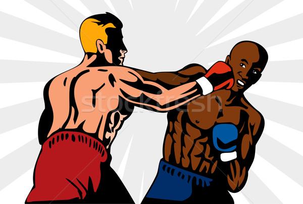 Boxer Boxing Knockout Punch Retro Stock photo © patrimonio