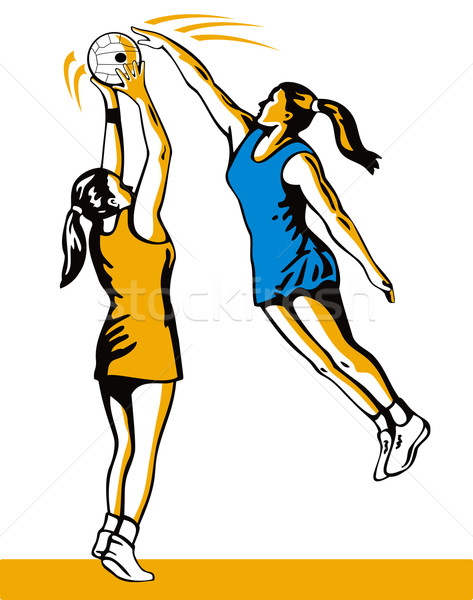 Netball Player Shooting Blocked Stock photo © patrimonio