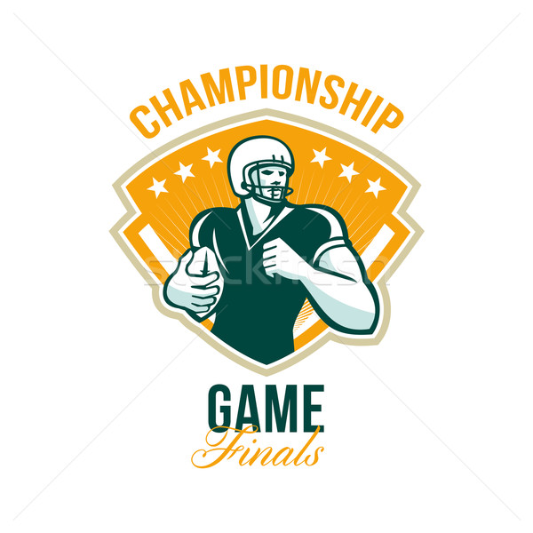 Americano futebol campeonato jogo crista ilustração Foto stock © patrimonio